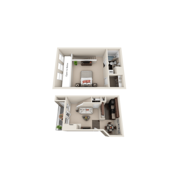 A1 floor plan at Enclave at Water's Edge Apartments