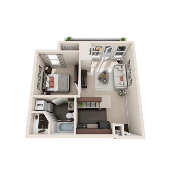Floor plan A at Enclave at Water's Edge Apartments