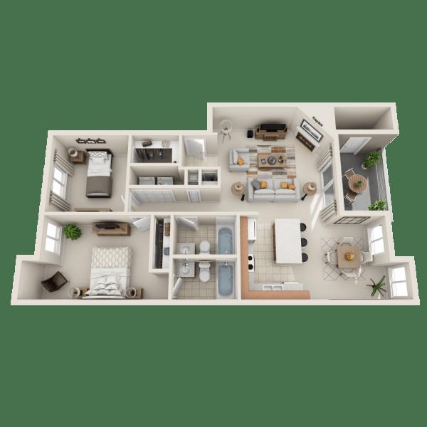 Floor plan A2 at Aravia Apartments