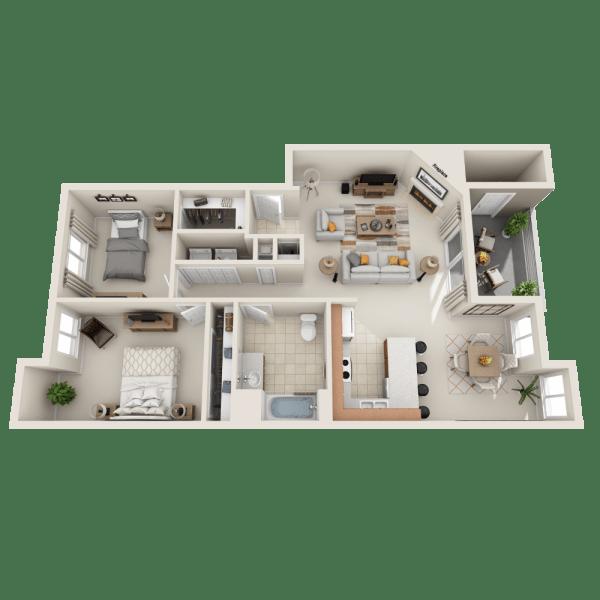 Floor plan A1 at Aravia Apartments