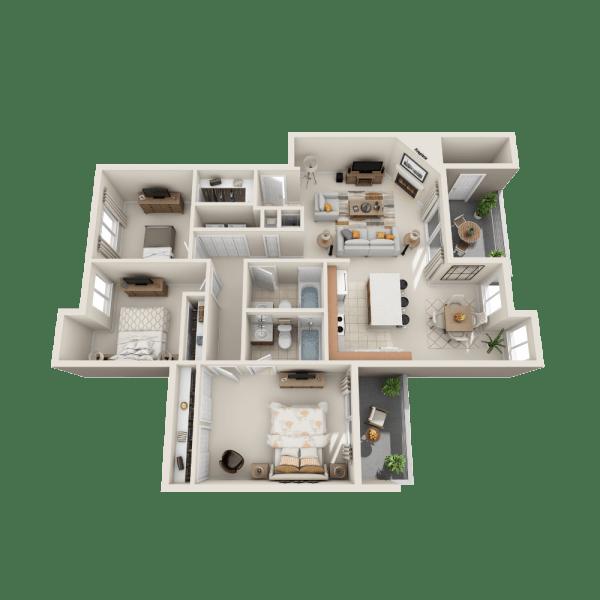 Floor plan A3 at Aravia Apartments