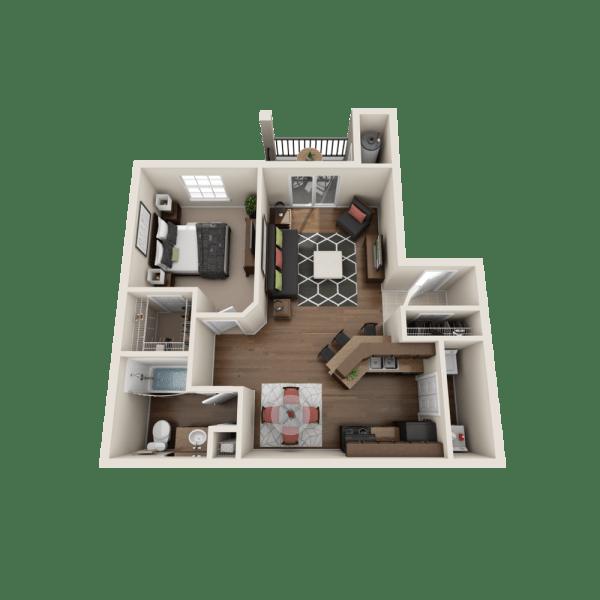 Artisan floor plan at Salado Springs Apartments