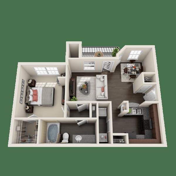 Creekbend floor plan at Ravinia Apartments