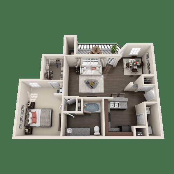 Pinehurst floor plan at Ravinia Apartments
