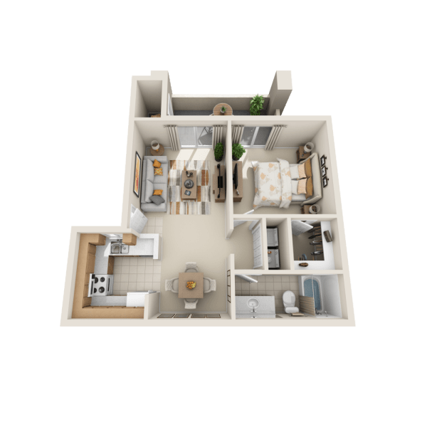 Floor plan A1 at Tresa at Arrowhead Apartments