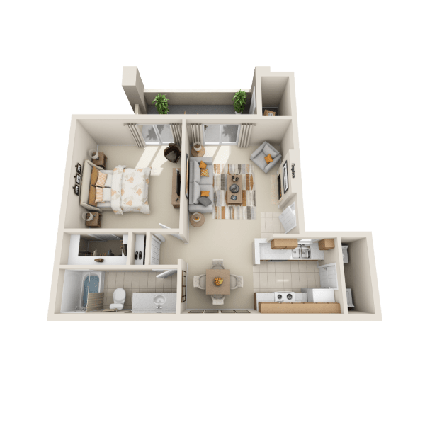 Floor plan A2 at Tresa at Arrowhead Apartments