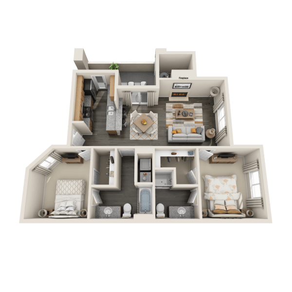 B1 floor plan at Tresa at Arrowhead Apartments