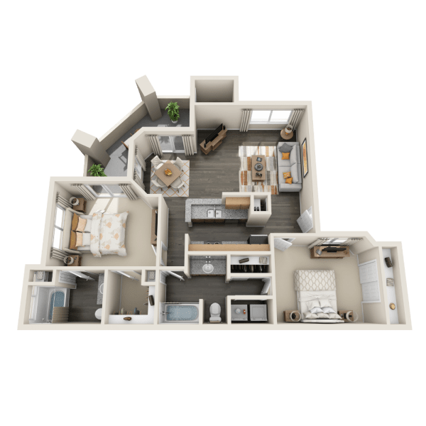 B2 floor plan at Tresa at Arrowhead Apartments