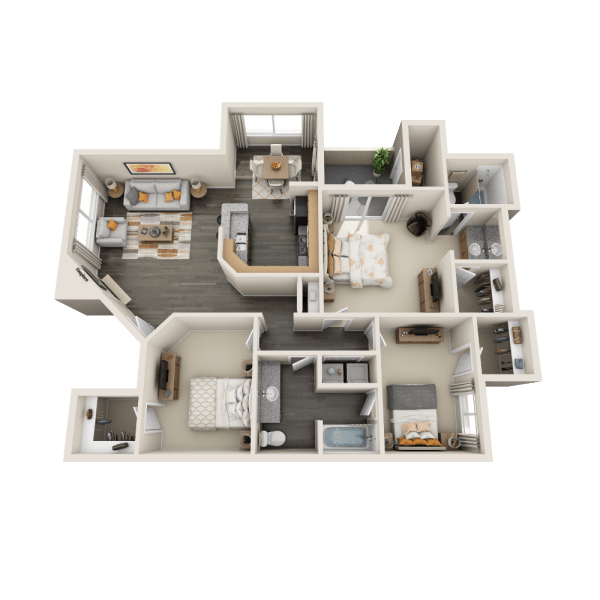 C1 Floor Plan at Tresa at Arrowhead Apartments