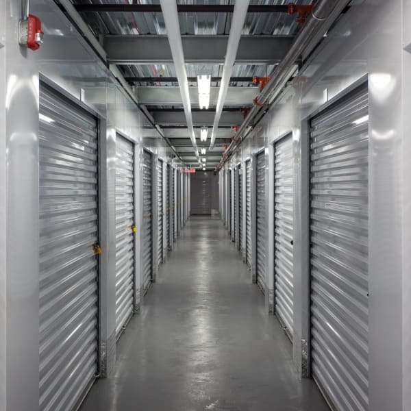 Climate-controlled indoor units at StorQuest Self Storage in Long Beach, New York