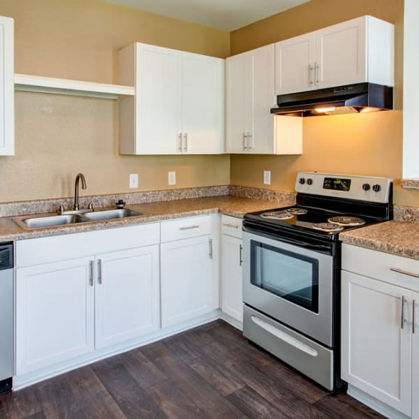 Spacious kitchen at Parkland at West Oaks in Houston