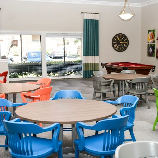 Clubhouse interior at Rowland Heights apartments for rent