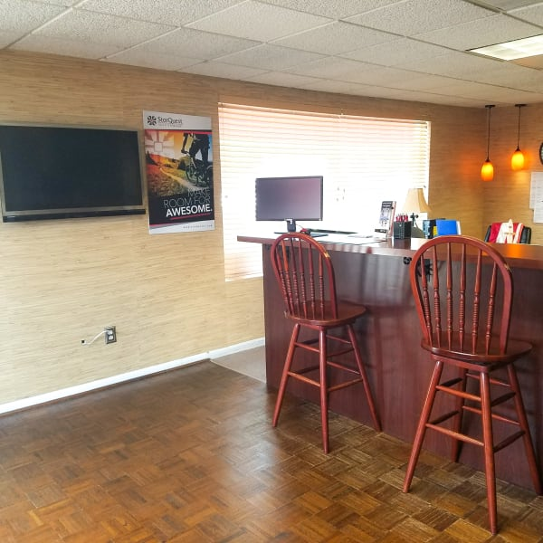 The leasing office at StorQuest Self Storage in Gainesville, Florida