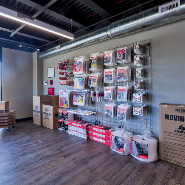 Available packing supplies at StorQuest Self Storage in Aurora, Colorado