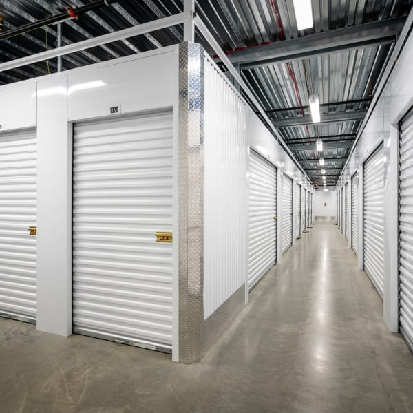 Climate controlled indoor storage units at StorQuest Self Storage in West Babylon, New York