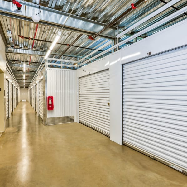 Interior climate-controlled units at StorQuest Self Storage in Denver, Colorado