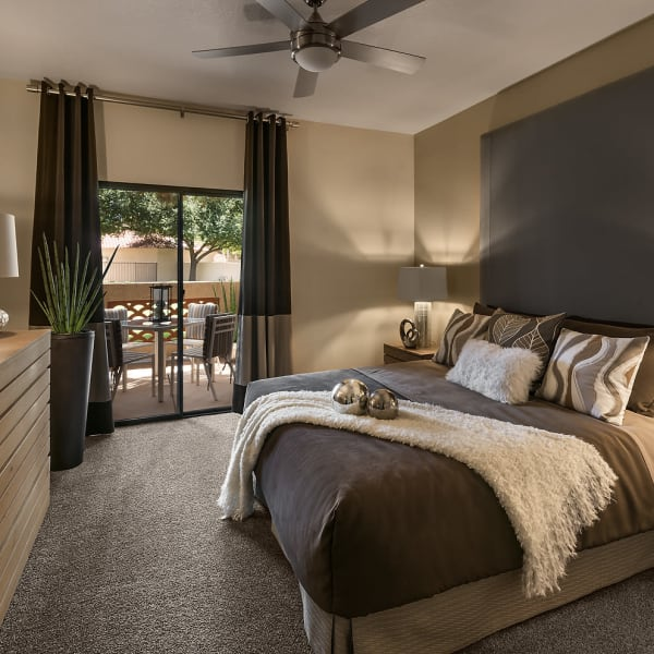 Beautiful bedroom at San Cervantes in Chandler, Arizona
