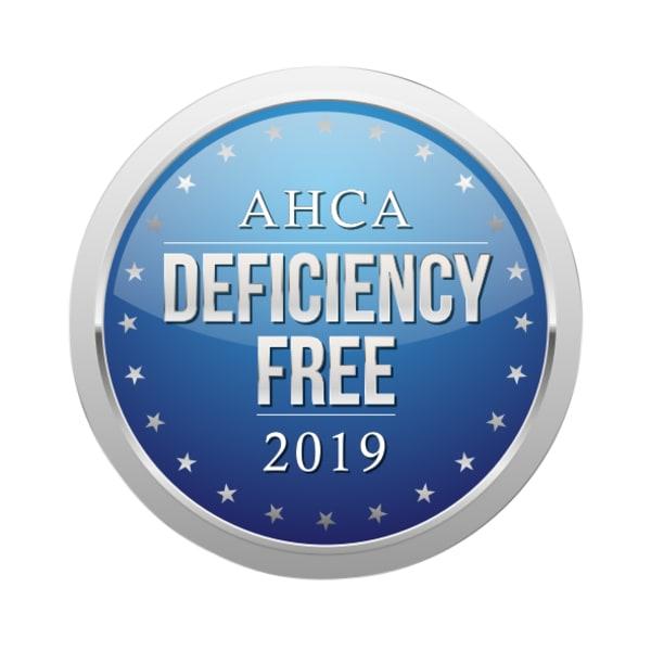 AHCA Deficiency Free 2019