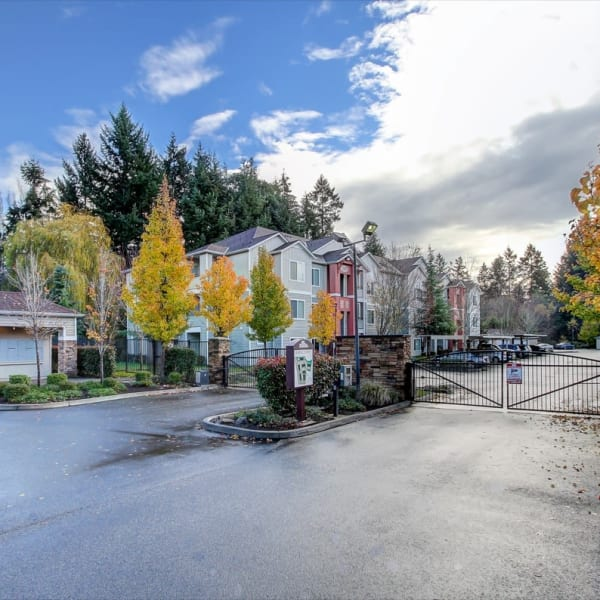 Electronic front gate for security at The Dakota Apartments in Lacey, Washington