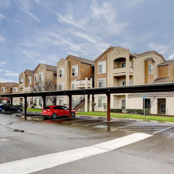 Covered parking at Laguna Creek Apartments in Elk Grove, California