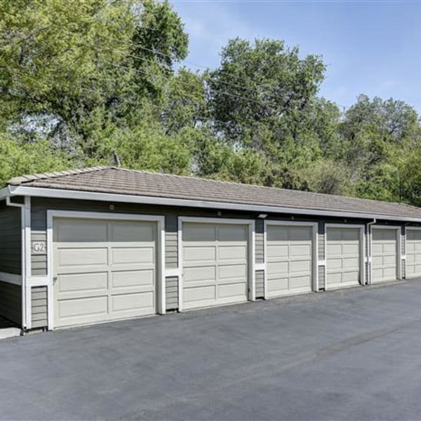 Private detached garages at Monticello at Southport in West Sacramento, California