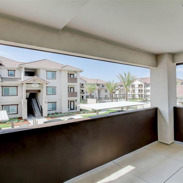 Personal back patio at The Palms at Morada in Stockton, California