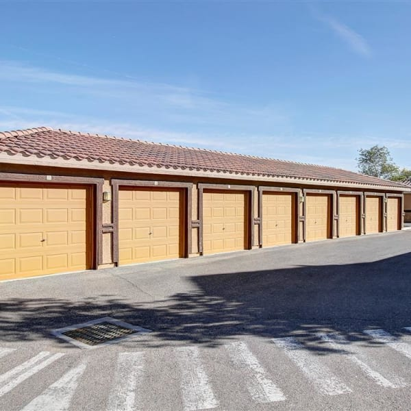 Personal parking garage at Tierra Pointe in Casa Grande, Arizona