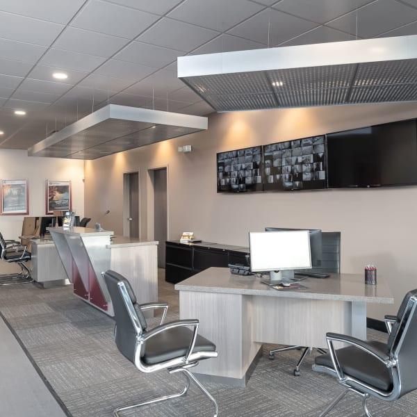 Customer service desk at StorQuest Express - Self Service Storage in Sacramento, California