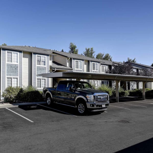 Covered parking at Northwind Apartments in Reno, Nevada