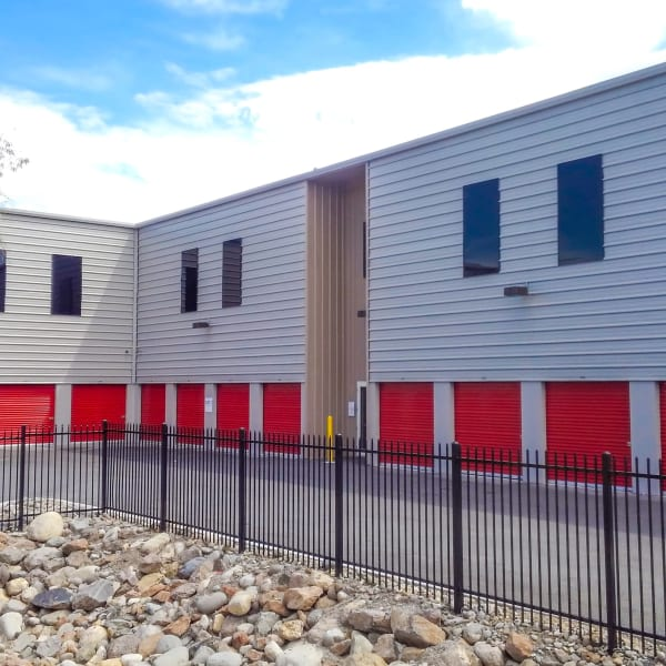 Climate controlled drive-up storage units at StorQuest Self Storage in Reno, Nevada
