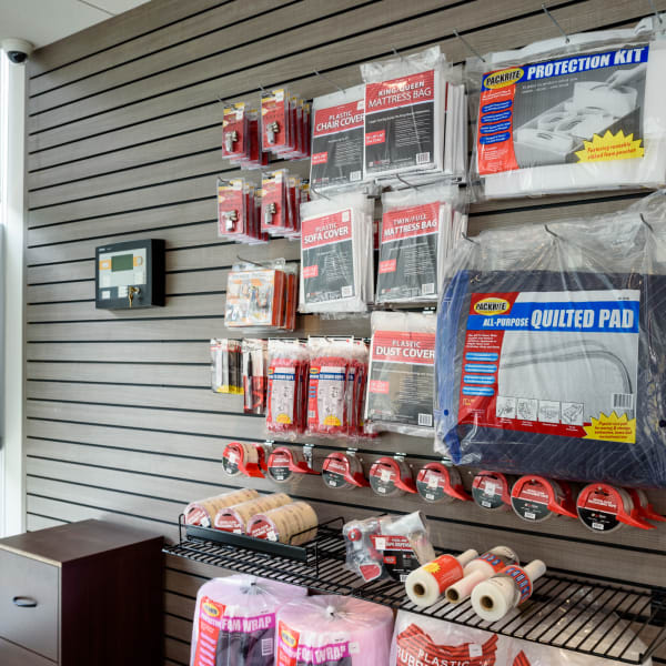 Packing supplies at at StorQuest Self Storage in Seattle, Washington