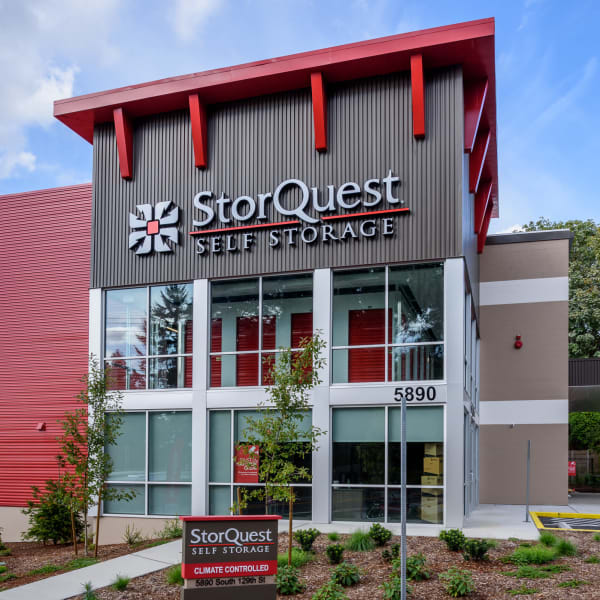 Exterior of StorQuest Self Storage in Seattle, Washington