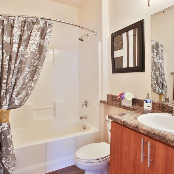 Beautiful modern bathroom at Spectra on 7th South in Phoenix, Arizona