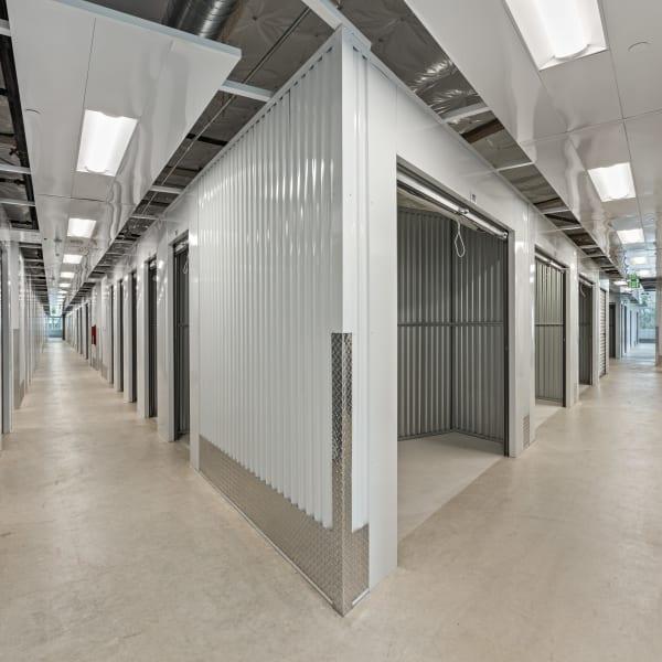 Indoor storage units at StorQuest Self Storage in Sacramento, California