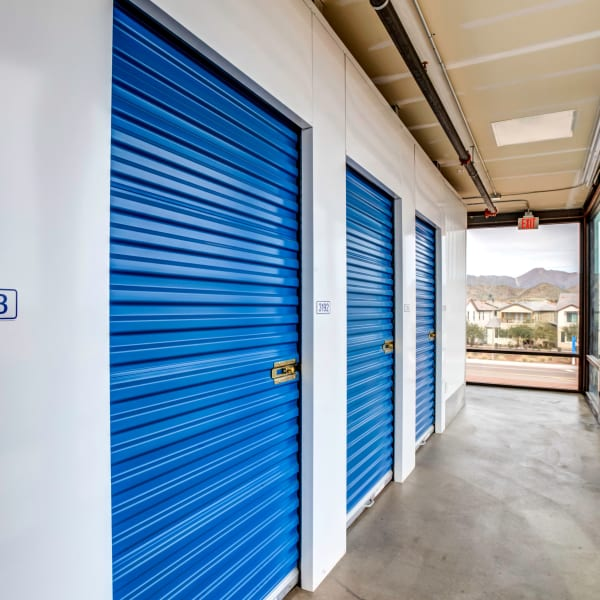 Indoor storage units at StorQuest Self Storage in Buckeye, Arizona