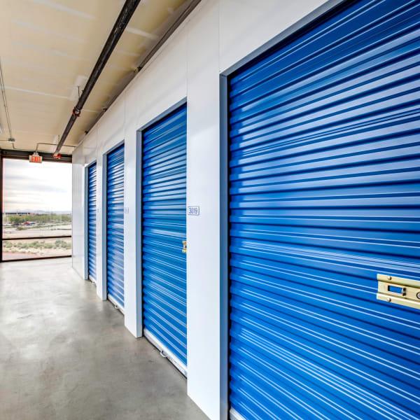 Air-conditioned indoor storage units at StorQuest Self Storage in Buckeye, Arizona
