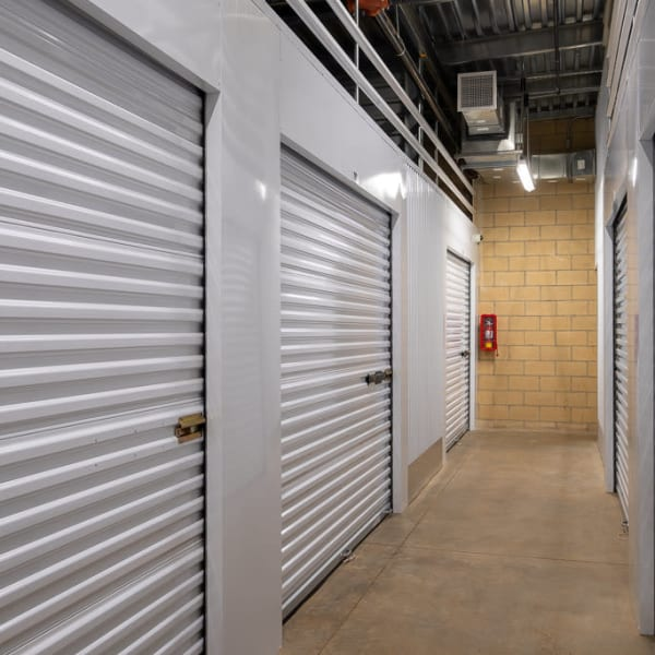 Climate controlled indoor storage units at StorQuest Self Storage in Richmond, California