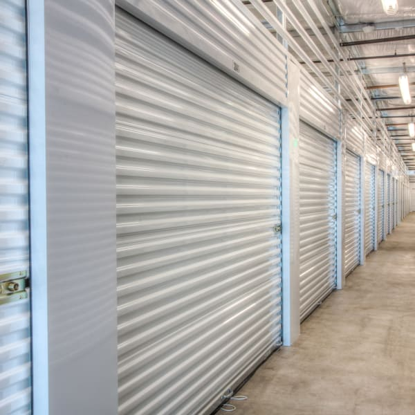 Indoor storage units at StorQuest Self Storage in Clearwater, Florida
