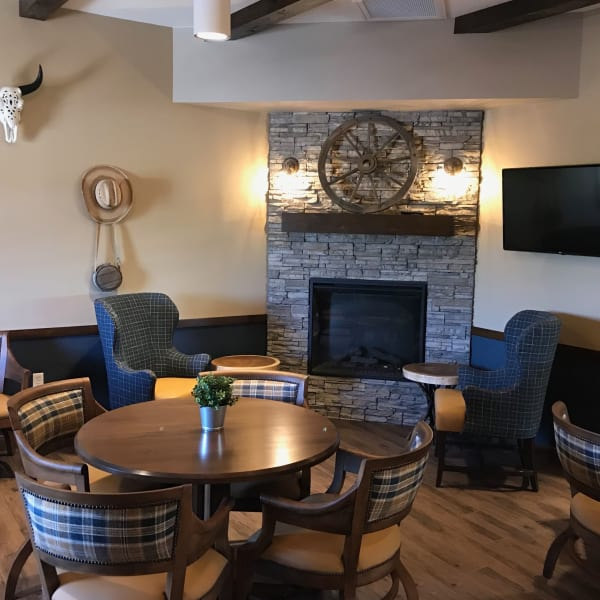 Themed community pub at Quail Park at Shannon Ranch in Visalia, California