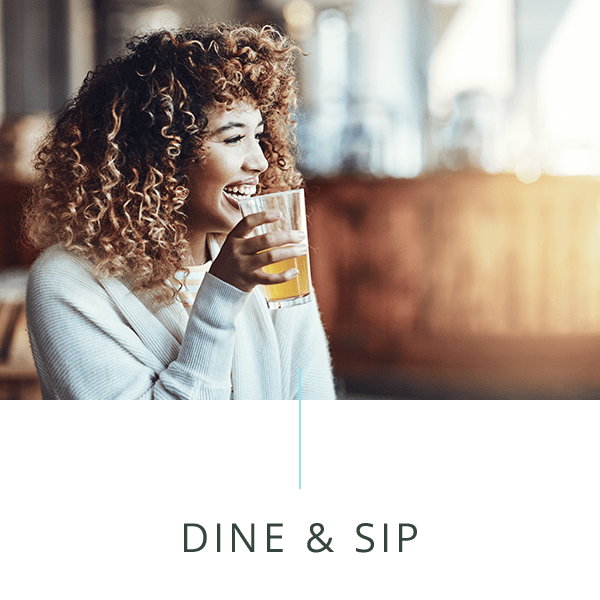Dine and sip icon of The Barton in Clayton, Missouri