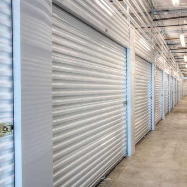 Indoor storage units at StorQuest Self Storage in Los Angeles, California