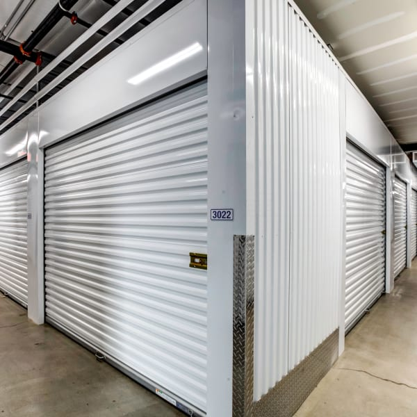 Climate controlled indoor storage units at StorQuest Self Storage in La Quinta, California
