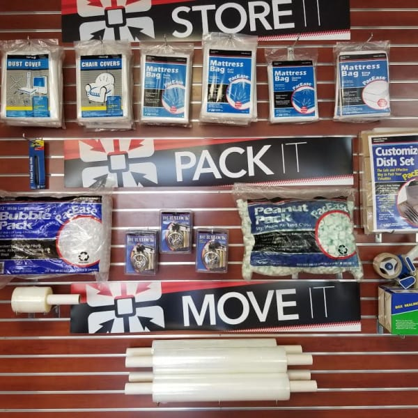Packing supplies sold at StorQuest Self Storage in Waipahu, Hawaii