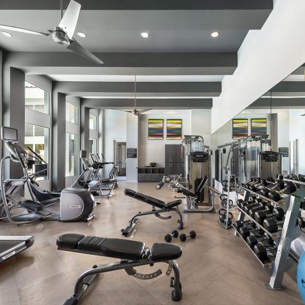 Resident fitness center at Avenue 25 Apartments in Phoenix, Arizona