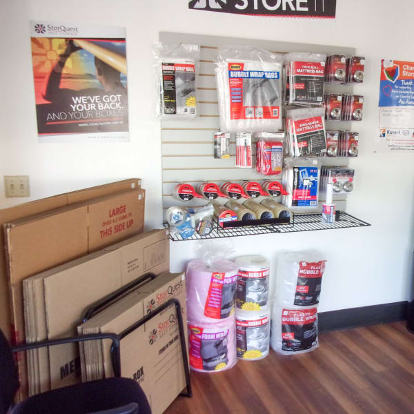Packing supplies available at StorQuest Self Storage in Dallas, Texas
