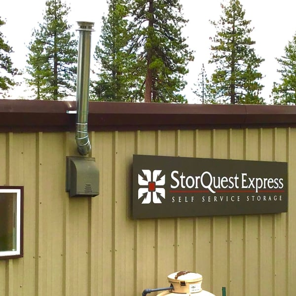 The leasing office facade at StorQuest Express - Self Service Storage in Tahoe Vista, California
