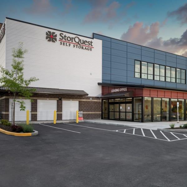 Exterior of StorQuest Self Storage in Redmond, Washington