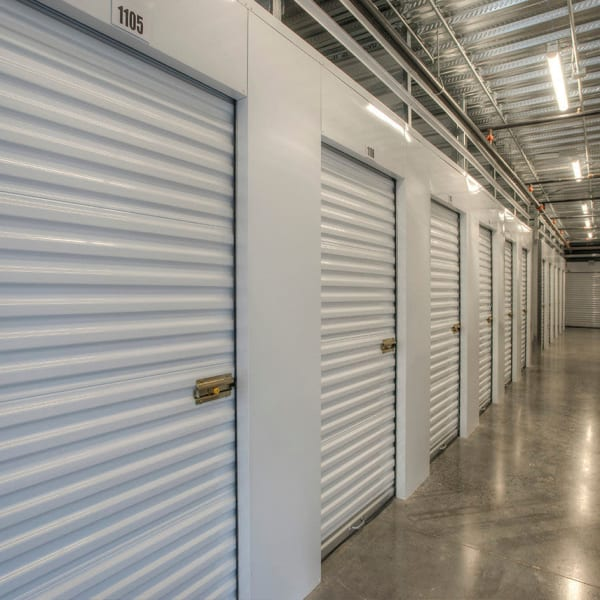 Climate controlled indoor storage units at StorQuest Self Storage in Thousand Oaks, California
