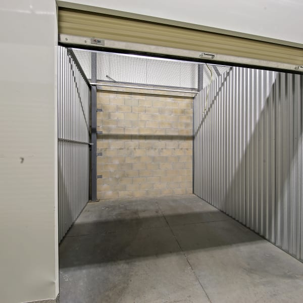 Inside of a self storage unit at My Neighborhood Storage Center in Orlando, Florida
