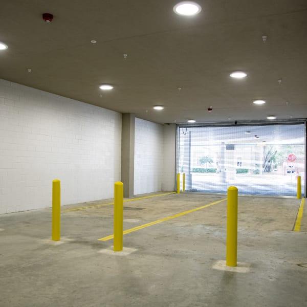 Driveway leading into storage units at My Neighborhood Storage Center in Orlando, Florida